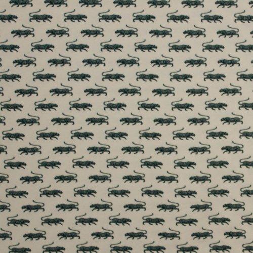 Katoen tricot  met luipaardmotief