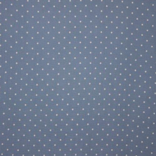 Tetra katoen blauw met sterretjes