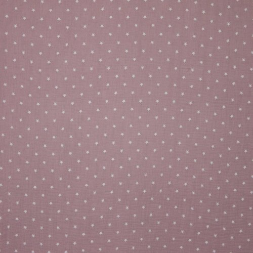 Tetra katoen roze met sterretjes
