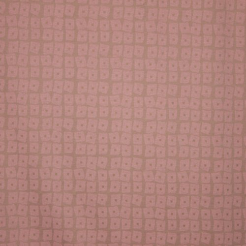 zachtroze jacquard tricot met blokjes