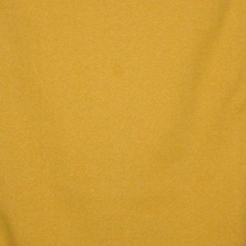 geribde boordstof geel met gouden glitter