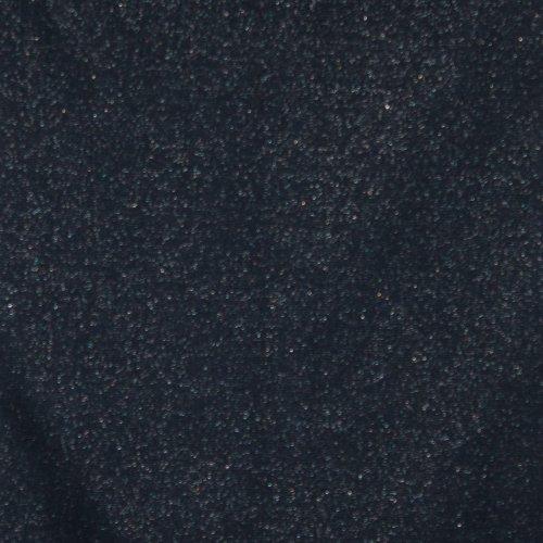 geribde boordstof donkerblauw met zilver glitter