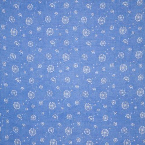 Double gauze blauw pluisjes