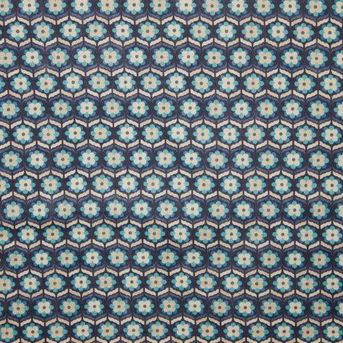 Kokka katoen Söpö Retro blauw