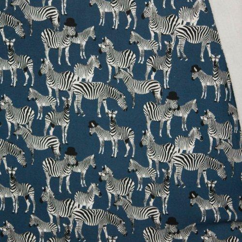 Sweater met zebra blauw