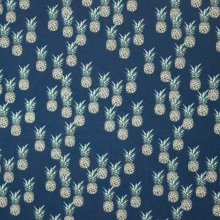 Tricot blauw ananas motief