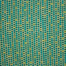 Viscose tricot turquoise bolletjes motief