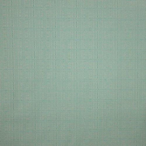 Witte Chanelstof met turqouise weving
