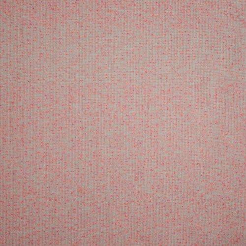 Chanelstof met fluo oranje en roze weving