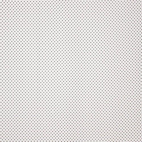 Polyester wit zwart polkadot