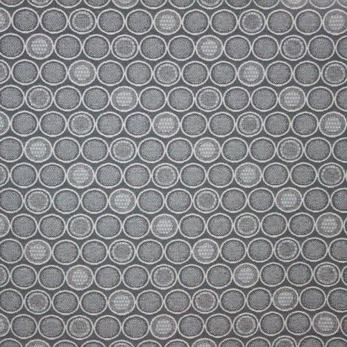 Jacquard zwart grijs bollen motief