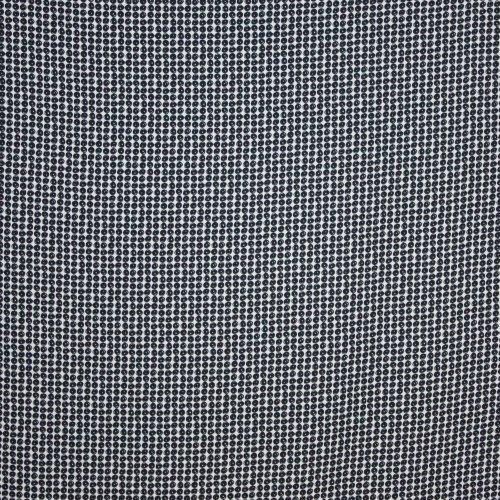 Viscose zwart wit bollen motief