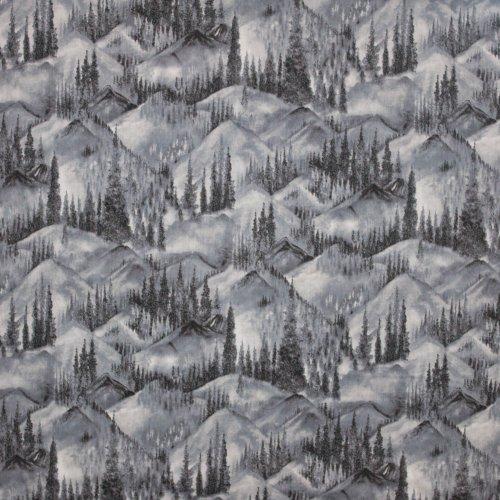 Landschap quilt mistige bergen