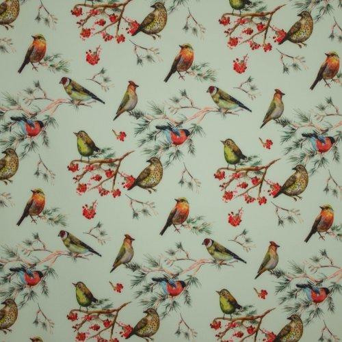 Munt softshell met vogelmotief