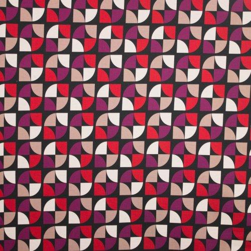 Zwarte punta di roma met geometrisch motief