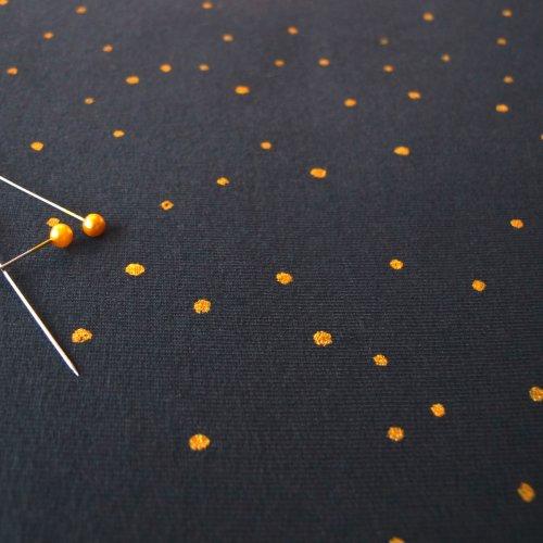 zachte soepele sweaterstof met goudgeel stipje