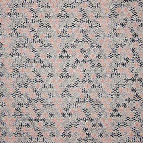 Lichte sweaterstof in wit met sneeuwkristallen