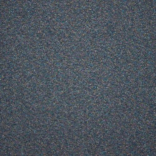 Grijsblauwe sweaterstof met gekleurde glitters met gebrushte achterkant