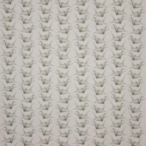 Witte katoen met origami zwaan