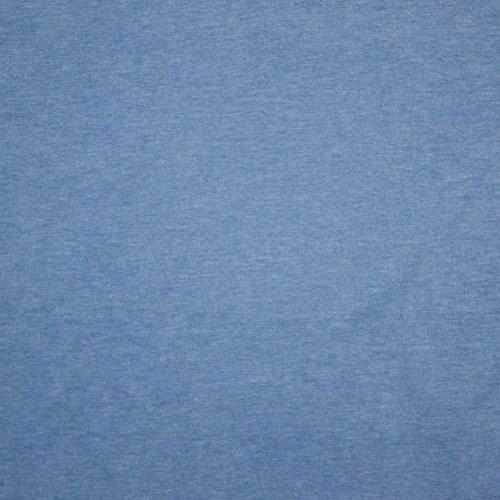 Jeansblauwe sweaterstof uni