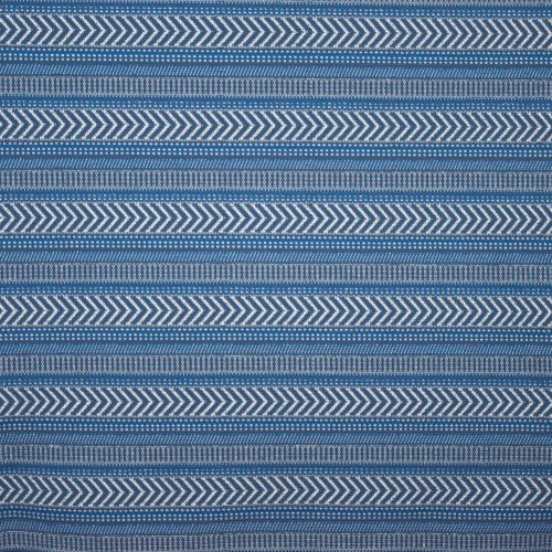 Blauwe jacquard met geometrisch patroon
