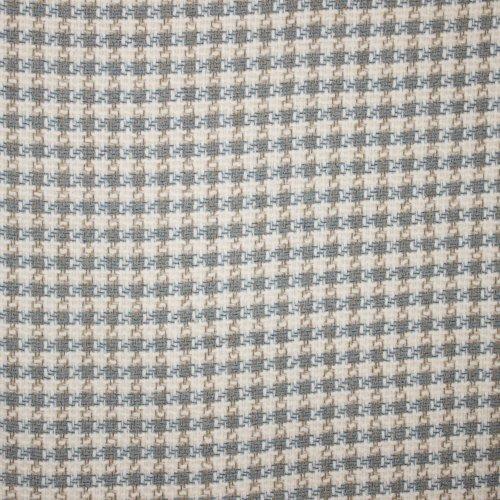 Chanelstof met wit, blauw en bruin motief