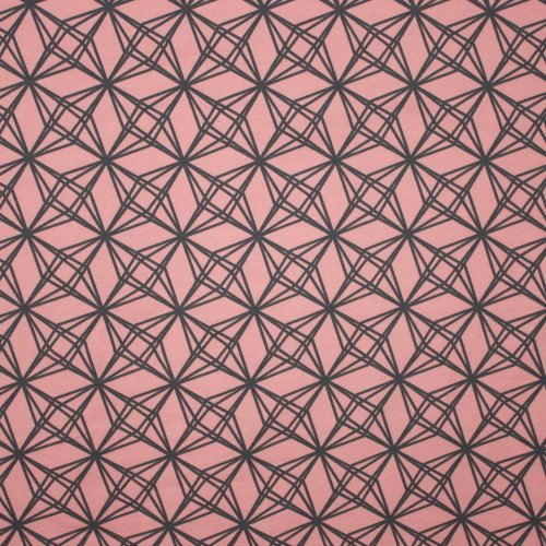 Roze french terry met grijze strepen