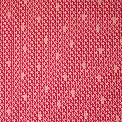 Tricot rood zeepaard glitter motief