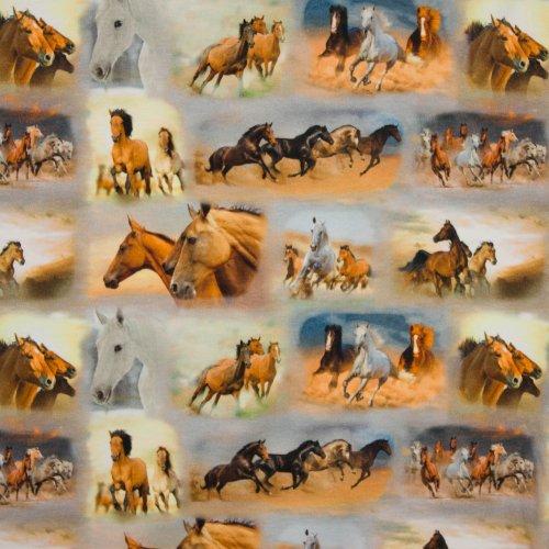Tricot paarden fotoprint