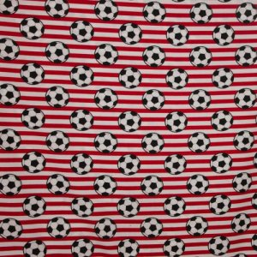 Wit-Rood gestreept katoen voetbalprint
