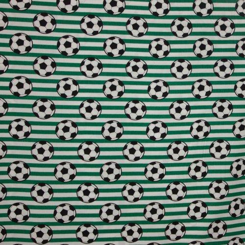 Wit-Groen gestreept katoen voetbalprint