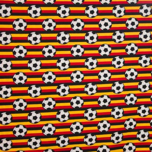 Zwart-Geel-Rood gestreept katoen voetbalprint