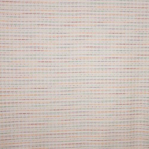 witte Chanelstof met kleurrijk streepjesmotief