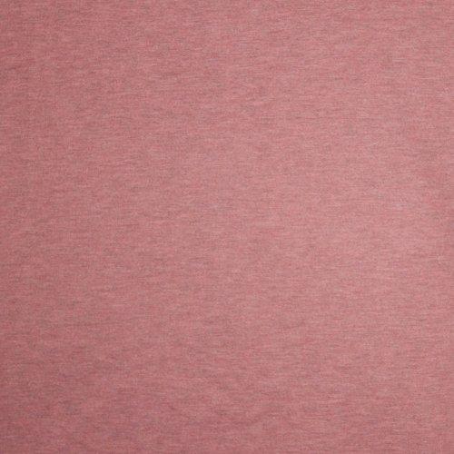 Licht bordeaux sweaterstof uni