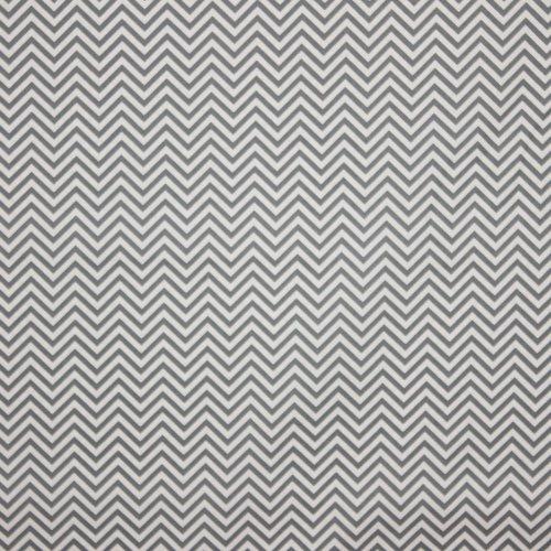 Witte katoen met zig-zag motief