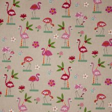 Canvas flamingo motief