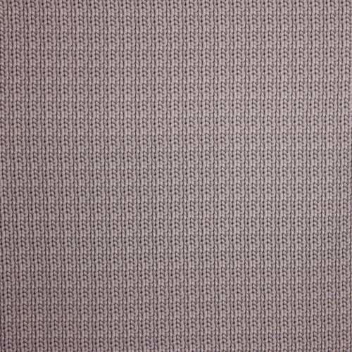 French terry taupe kabel motief