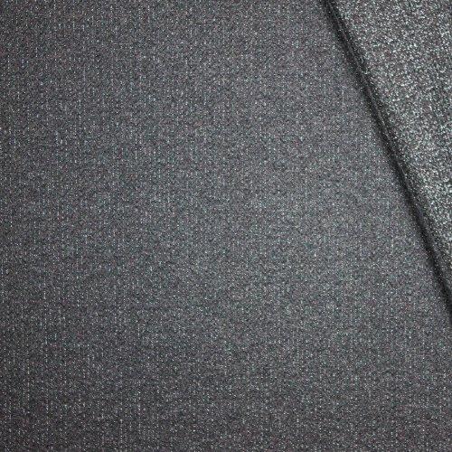 Structuurtricot donkergrijs kabel motief met glinsterdraad