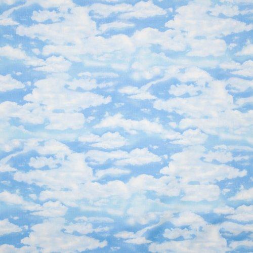 Landschap quilt blauwe wolkenlucht