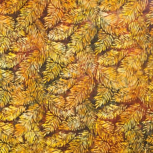 Landschap quilt met palmbladeren