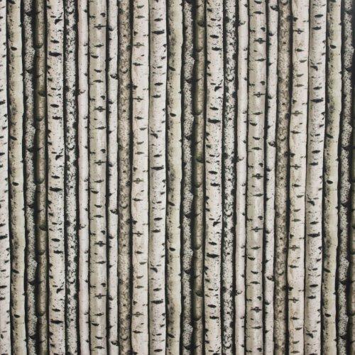 Landschap quilt met boomstammen