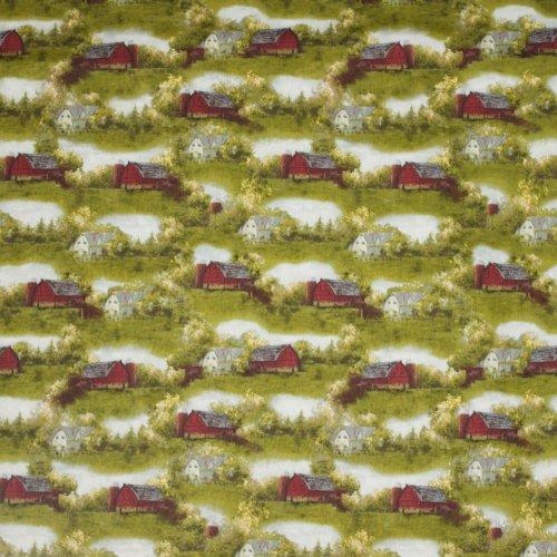 Landschap quilt met boerderijen