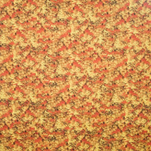 Landschap quilt met herfst struik