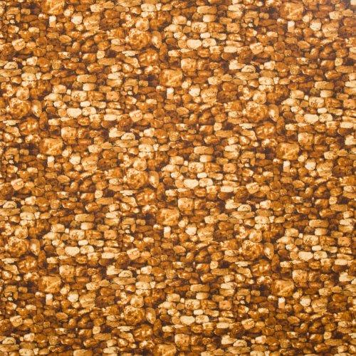 Landschap quilt met keien wand oranje
