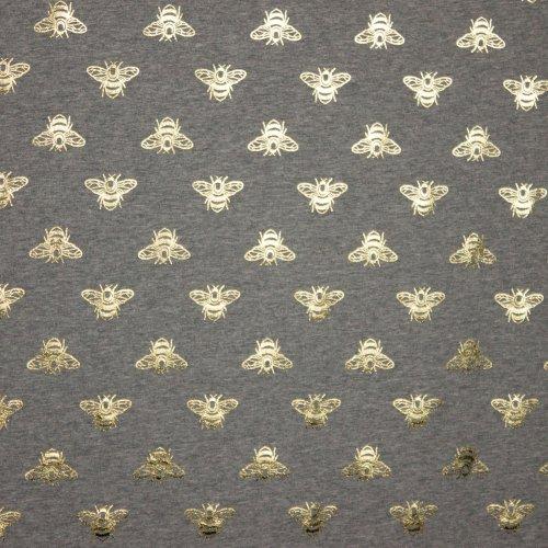 Grijze tricot met gouden bijtjes