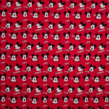 Rode tricot met  Mickey Mouse gezichtjes